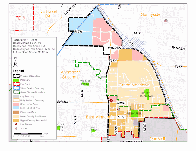 Proposed Van Mall North Annexation  Area. Click on the image for a larger version.