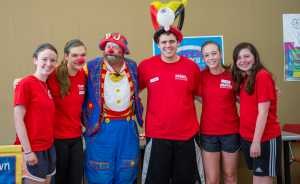 Clowning around at Firstenburg day camps.