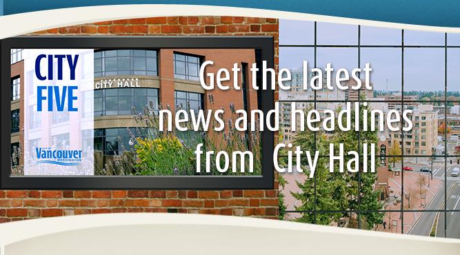 Get the latest news and headlines from City Hall with City Five. Tune in now.