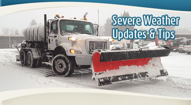 Get severe weather updates and tips from the Public Works Department.