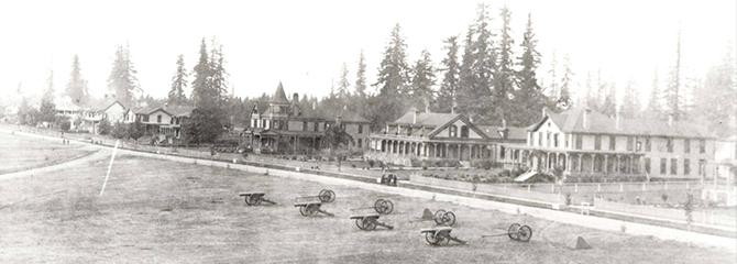 Historic photo of Officers Row