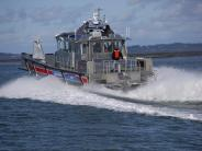 Vancouver's quick response boat at speed - back view