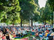 Photo of the crowd at a Riverview Six to Sunset concert