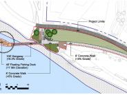 Waterfront Park - West Loop Development Plan Showing ADA-accessible Fishing Dock
