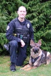 Ofc. R. Starbuck and K9 Ivar