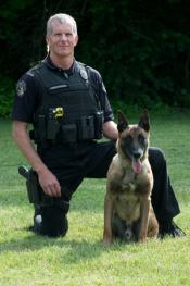 Ofc. J Anderson and K9 Ike