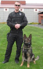 Ofc. B. Viles and K9 Enzo