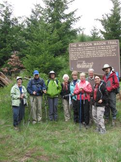 50+ Forever Young Hike group at The Weldon Wagin Trail
