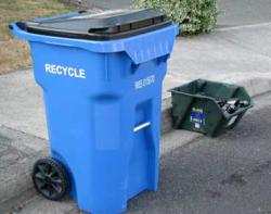 Recycling Cart & Glass Bin