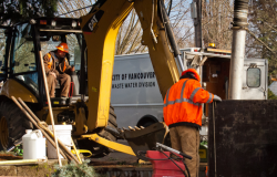 Vancouver Public Works maintains and repairs the city's extensive sewer collection system