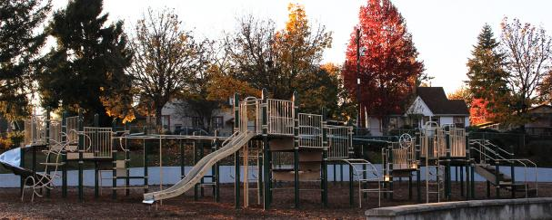 Washington School Park outside Washington Elementary School in Vancouver
