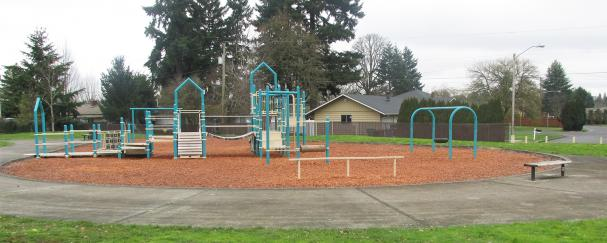 Playground at Centerpoint Van Plaza Park near the Vancouver Mall