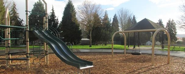 Playground at Shumway Park in downtown Vancouver, Washington