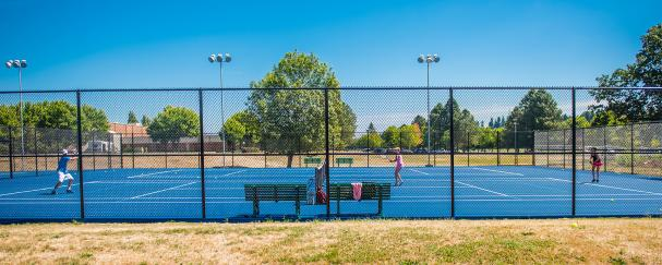 Outdoor courts at the Vancouver Tennis Center in Vancouver, Washington
