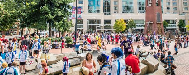 Kumoricon Anime Convention at Propstra Square in Esther Short Park