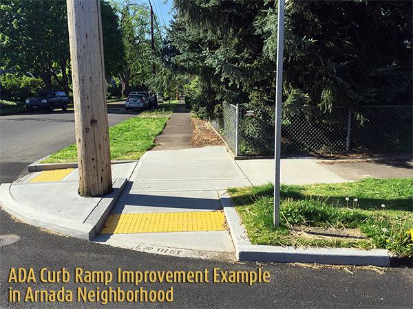 ADA Curb Ramp  Example