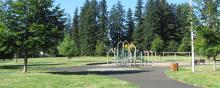 Playground at Diamond Park in east Vancouver, Washington