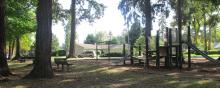 Wooded view of Dubois Park in central Vancouver, Washington