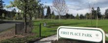 East entrance to First Place Park in Vancouver, Washington
