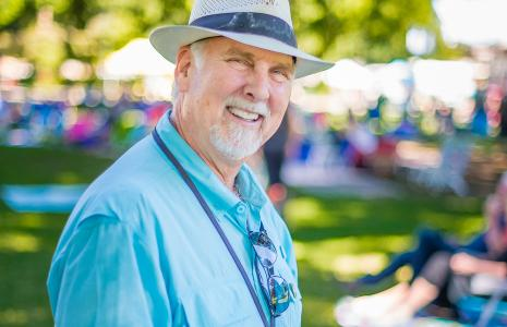 Steve Morris volunteers at the Riverview Six to Sunset concerts in Esther Short Park