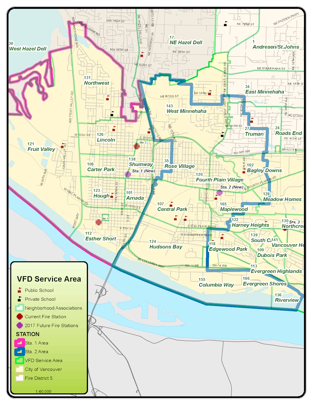 View A Larger Service Area Map