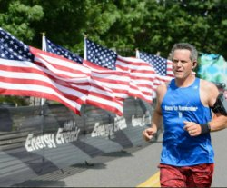 A runner at the Race to Remember
