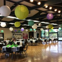 The Luepke Community Room decorated for Senior Prom