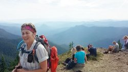 Hikers tackle Observation Peak on a recent 50+Forever Young Hikers trek.