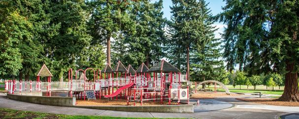 Playground At Marshall Community Park In Vancouver Washington